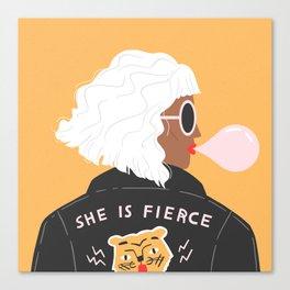 She Is Fierce Canvas Print