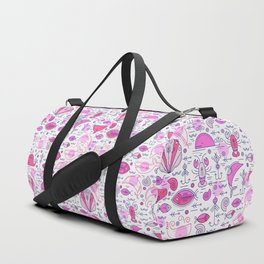 Sea pattern no 2 (pink) Duffle Bag