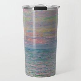 """Claude Monet """"Coucher de soleil à Pourville, pleine mer"""" Travel Mug"""