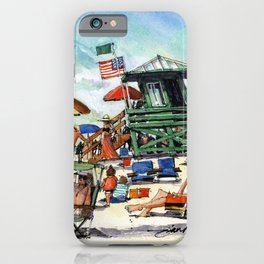 The Green Lifeguard Stand, Siesta Key iPhone Case