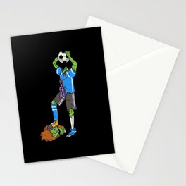 Zombie Footballer | Halloween Soccer Player Stationery Cards