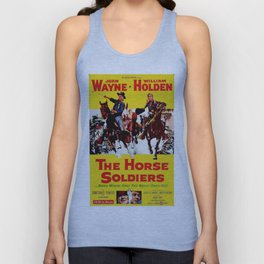 Vintage Movie Posters, The Horse Soldiers Unisex Tank Top