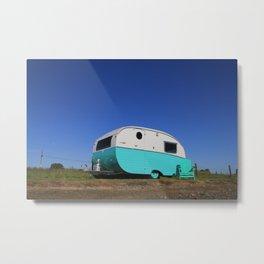 Starliner Caravan Camper Metal Print