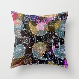 C13D Seashell Sparkle Throw Pillow