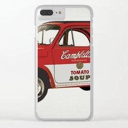 Soup car Clear iPhone Case