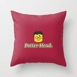 Potter Head Throw Pillow