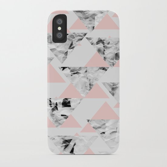 Pink Triangles iPhone Case