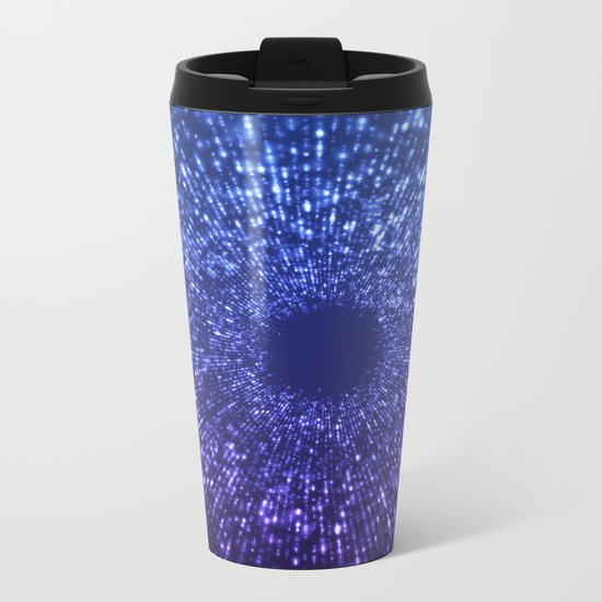 Sci Fi Abstract Outer Space Universe Blue Mystic Metal Travel Mug