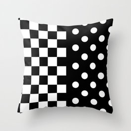ABSTRACTISM (BLACK-WHITE) Throw Pillow