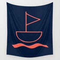 sail Wall Tapestries featuring sail by gzm_guvenc