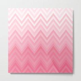 Fading Pink Chevron Metal Print