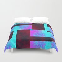 vagina Duvet Covers featuring Sybaritic II by Aaron Carberry