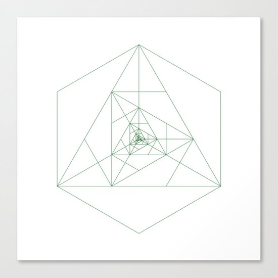 #243 Antenna – Geometry Daily Canvas Print