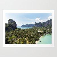 Railay Bay - Rai Leh Beach, Krabi Thailand  -  Tropical Paradise Art Print