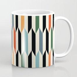 MCC Oddities III - Mid Century Modern Geometric Abstract Pattern - Red Orange Blue Green Black Coffee Mug
