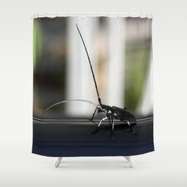 Long antennae for feelers of wide world Shower Curtain