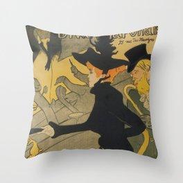 Henri de Toulouse-Lautrec Divan Japonais Throw Pillow