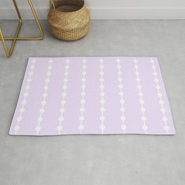 Geometric Droplets Pattern Linked - Pastel Lilac and White Rug
