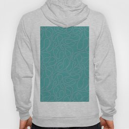 Abstract Geometrical Rosewater Pink Mint Blue Pattern Hoody