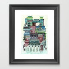 strange house Framed Art Print