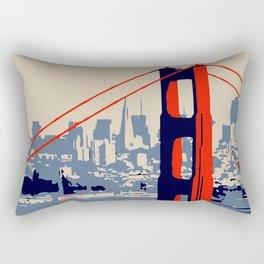 Golden gate bridge vector art Rectangular Pillow
