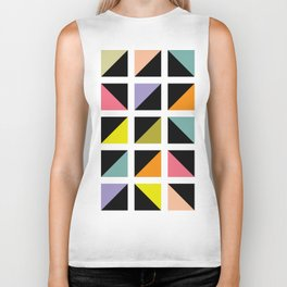 Triangle box pattern Biker Tank