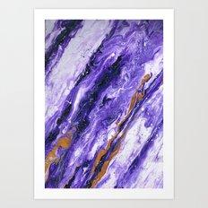Chevron Amethyst 2 Art Print