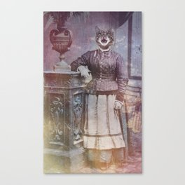 Retro Kitty Canvas Print