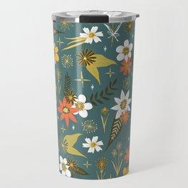 bright fun floral pattern Travel Mug