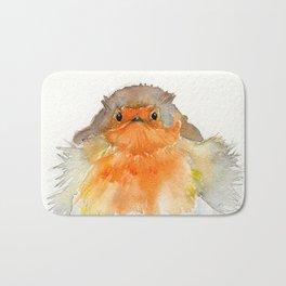 Fluffy Red Robin Bath Mat