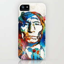 Native American Art - Warrior - By Sharon Cummings iPhone Case
