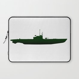 Submarine Silhouette Laptop Sleeve