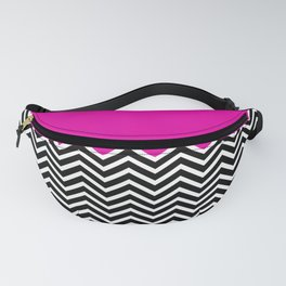 Flat Pink and Classic Chevron Fanny Pack