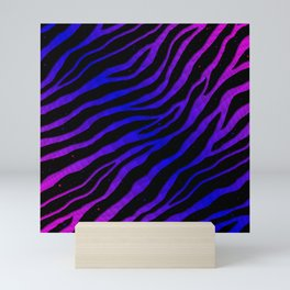 Ripped SpaceTime Stripes - Pink/Blue Mini Art Print