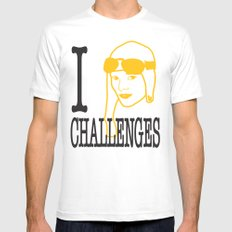 I __ Challenges White MEDIUM Mens Fitted Tee