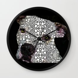 Stone Rock'd Dog By Sharon Cummings Wall Clock