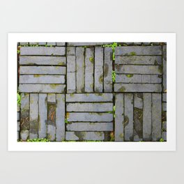 Hangzhou Slab floor Art Print