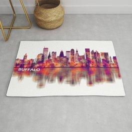Buffalo New York Skyline Rug