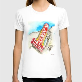 Alamo Drafthouse watercolor T-shirt