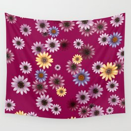 Multicolored natural flowers 8 Wall Tapestry