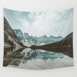 Moraine Lake Mountain Reflection Summer Wall Tapestry