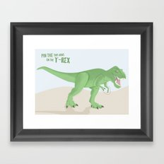 pin the tiny arms on the t-rex Framed Art Print