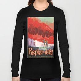 Kepler-186 : NASA Retro Solar System Travel Posters Long Sleeve T-shirt