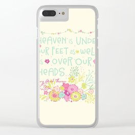 Sweet Sayings 2 Clear iPhone Case