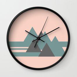 Peak Pink Grey Wall Clock