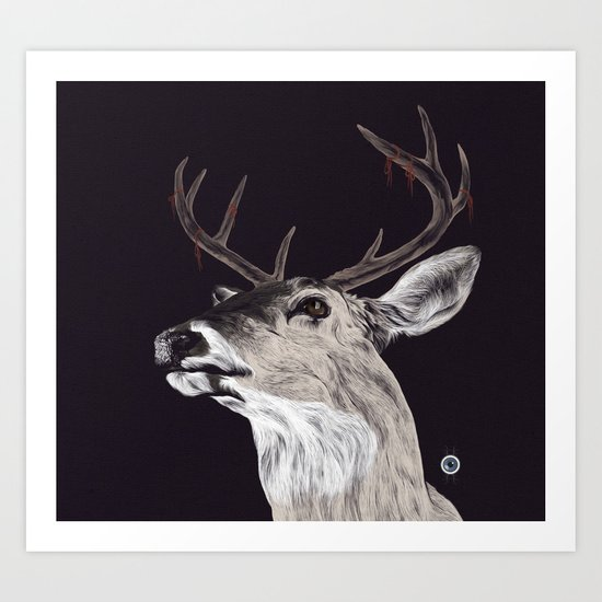Deer (remindeer) Art Print