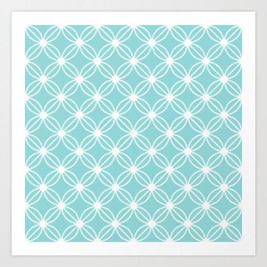 Abstract Circle Dots Mint Art Print