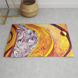 Solar Eclipse o're de mountain Rug