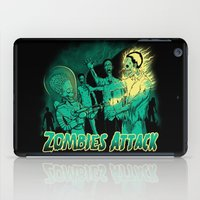 zombies iPad Cases featuring Zombies Attack by pigboom el crapo