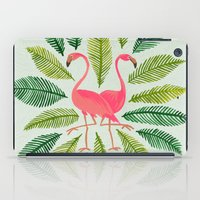 flamingos iPad Cases featuring Flamingos by Cat Coquillette